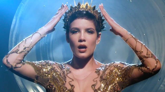 Halsey Glitters In Gold In New 'Castle' Video