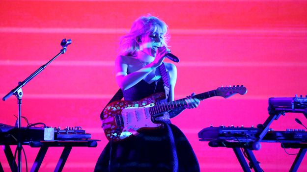 Grimes Performs 'Flesh Without Blood' At Her Very Own Cyberpunk Prom