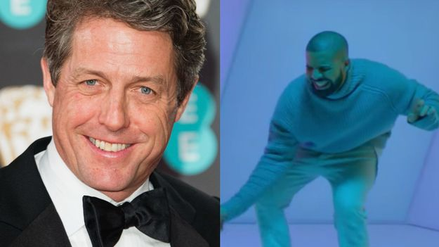 Hugh Grant Got On Drake's Level For His New And Improved Love Actually Dance