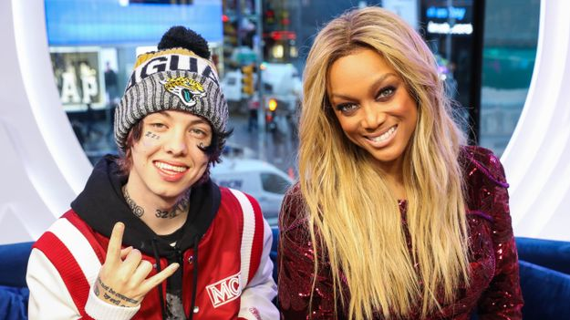 bbeb731eb TRL was extra lit today because America's Next Top Model host Tyra Banks  and Lil Xan dropped by the studio. Believe it or not, the two stars  actually have ...