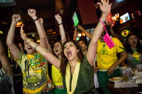 Soccer Fans Watch World Cup Opening Match In New York City