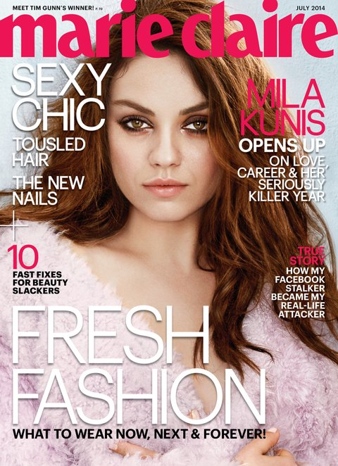 Marie Claire July 2014 - Mila Kunis