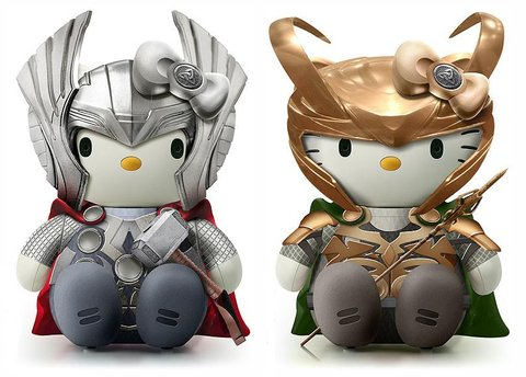 Hello Kitty Loki and Thor