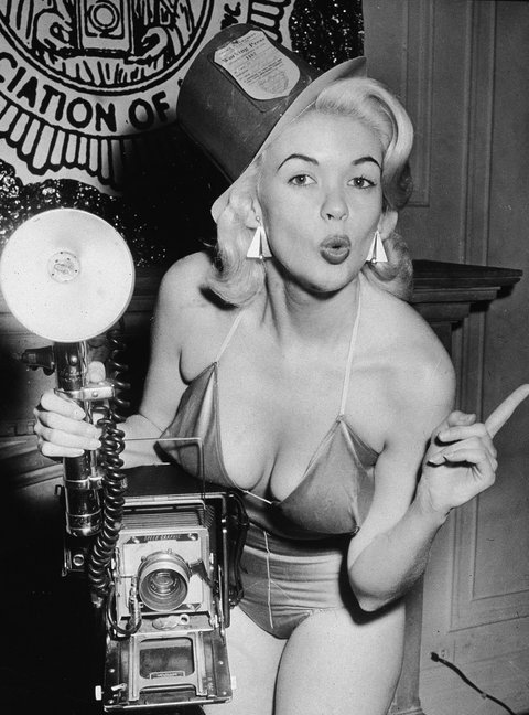 Jayne Mansfield Poses With Camera