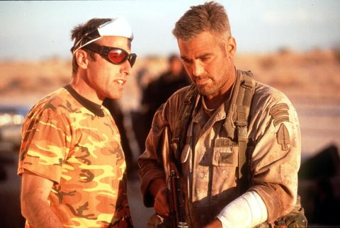 Director David O Russell And George Clooney In Three Kings '99 Wb And Village Roadshow Film Lim