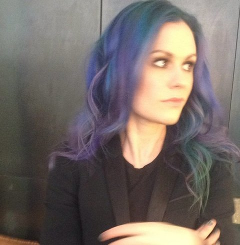 Anna Paquin, purple hair