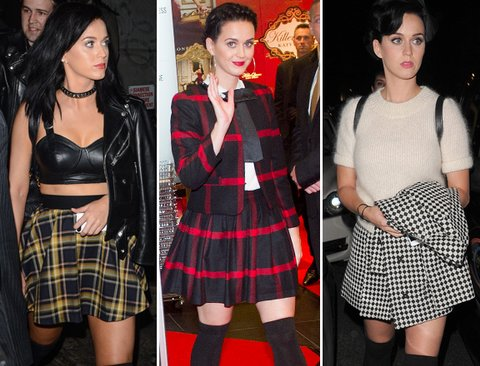 Katy Perry, plaid