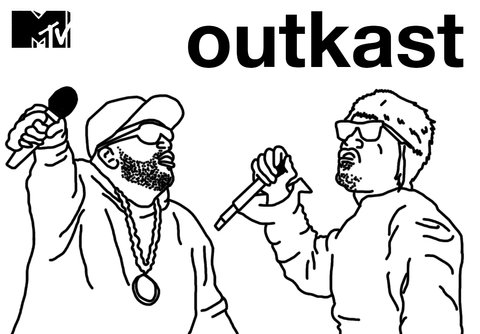 OutKast Coloring Page