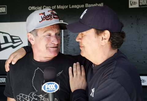 Robin Williams and Billy Crystal sighting at the New York Yankees vs San Francisco Giants Game - June 23, 2007