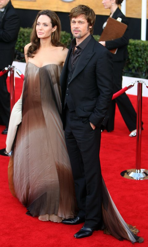 Actors Angelina Jolie and Brad Pitt  arr