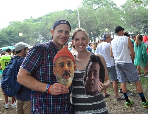 Bill Murray posters at Lollapalooza