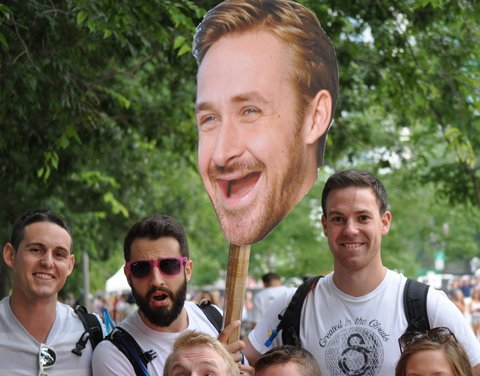 Toothless Ryan Gosling at Lollapalooza