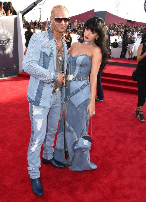 INGLEWOOD, CA - AUGUST 24: Riff Raff and Katy Perry arrives at the 2014 MTV Video Music Awards at The Forum on August 24, 2014 in Inglewood, California. (Photo by Steve Granitz/WireImage)