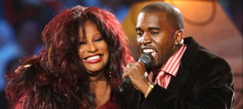 Kanye West and Chaka Khan