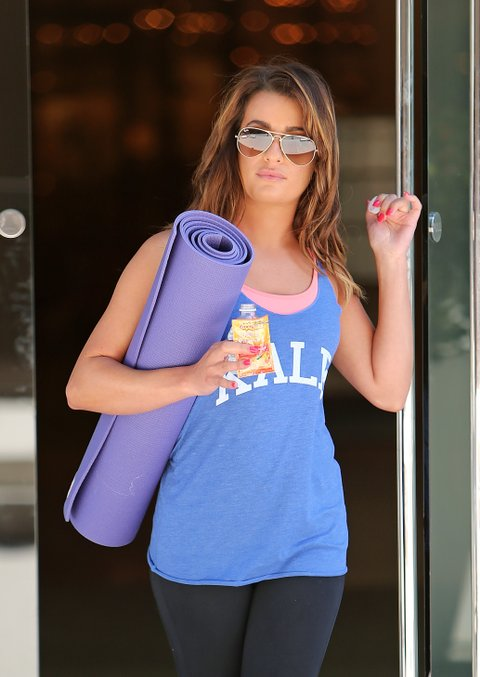 Lea Michele grabs some Emergen-C whilst leaving a yoga class in Los Angeles, CA