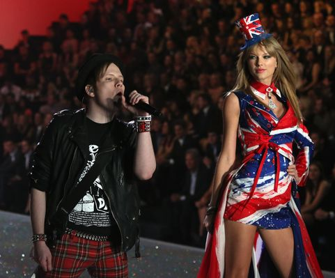 Patrick Stump of the Fall Out Boy and Taylor Swift
