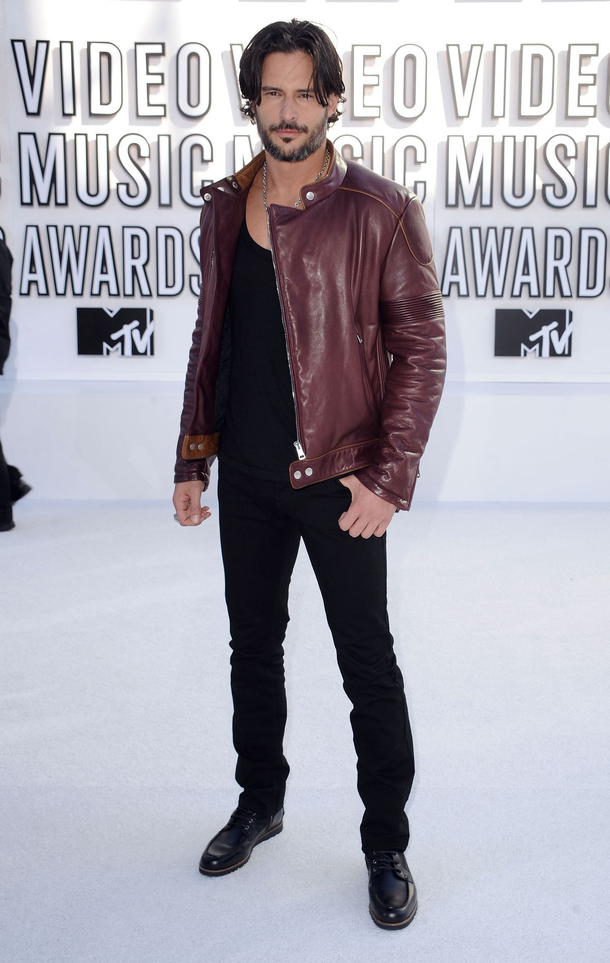 Actor Joe Manganiello arrives at the 2010 MTV Video Music Awards held at Nokia Theatre L.A. Live on September 12, 2010 in Los Angeles, California.