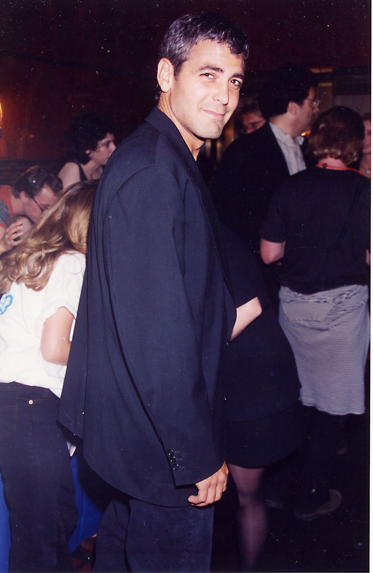 George Clooney at the 1995 MTV Video Music Awards in New York. (Photo by Jeff Kravitz/FilmMagic, Inc)