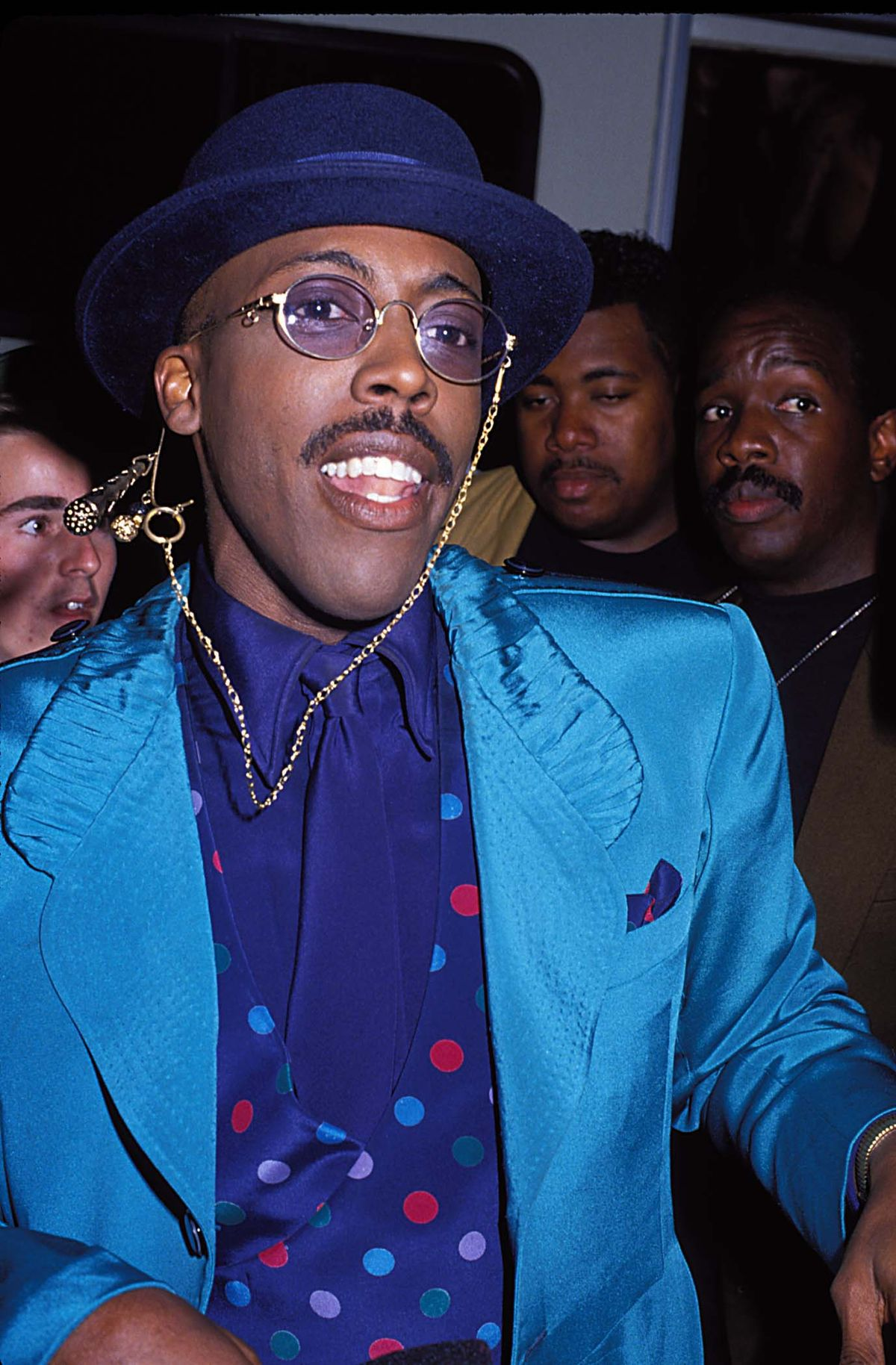 Arsenio Hall during 1990 MTV Video Music Awards in Los Angeles, California, United States. (Photo by Jeff Kravitz/FilmMagic, Inc)