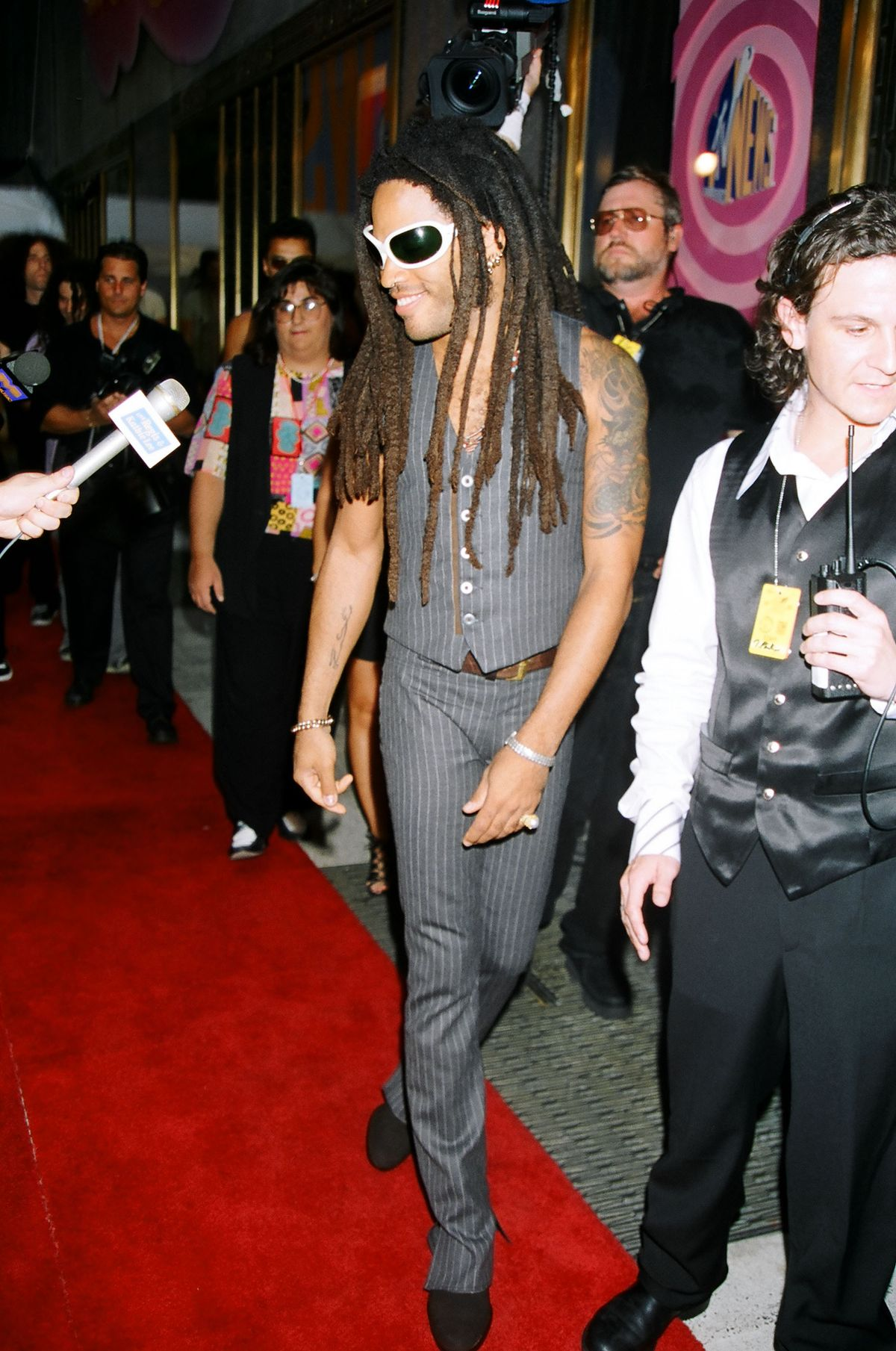 Lenny Kravitz during 1995 MTV Video Music Awards Show at Radio City Music Hall in New York City, New York, United States. (Photo by Jeff Kravitz/FilmMagic, Inc)