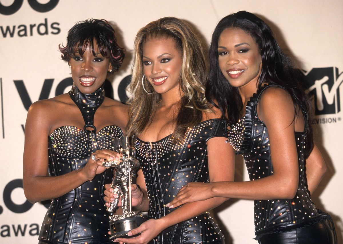 Destiny's Child during The 2000 MTV Video Music Awards at Radio City Music Hall in New York City, New York, United States. (Photo by Ke.Mazur/WireImage)