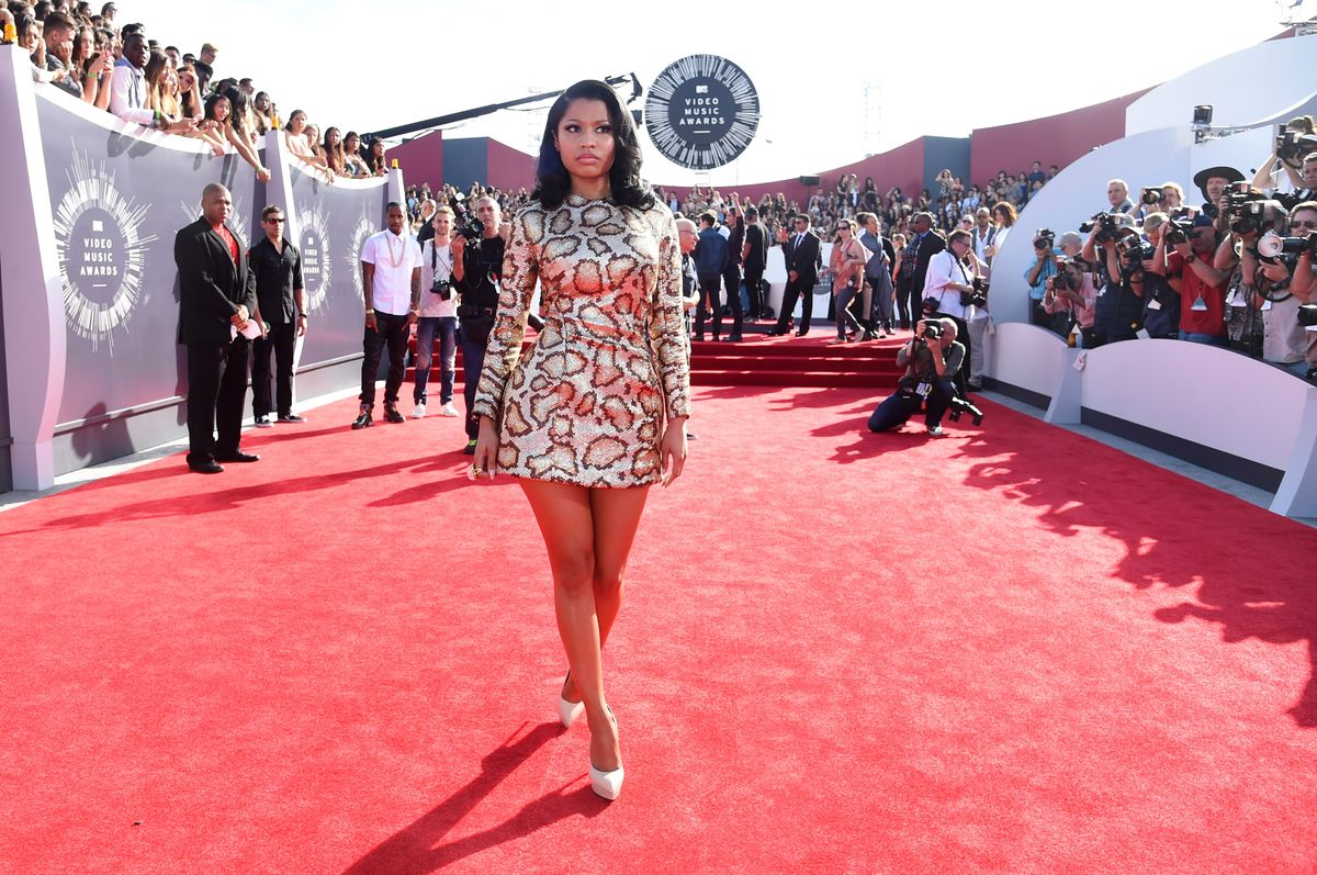 INGLEWOOD, CA - AUGUST 24: Recording artist Nicki Minaj attends the 2014 MTV Video Music Awards at The Forum on August 24, 2014 in Inglewood, California. (Photo by Jeff Kravitz/FilmMagic)