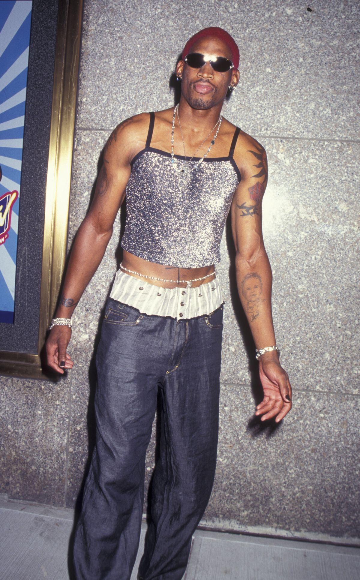 NEW YORK CITY - SEPTEMBER 7: Dennis Rodman attends 12th Annual MTV Video Music Awards on September 7, 1995 at Radio City Music Hall in New York City. (Photo by Ron Galella, Ltd./WireImage)