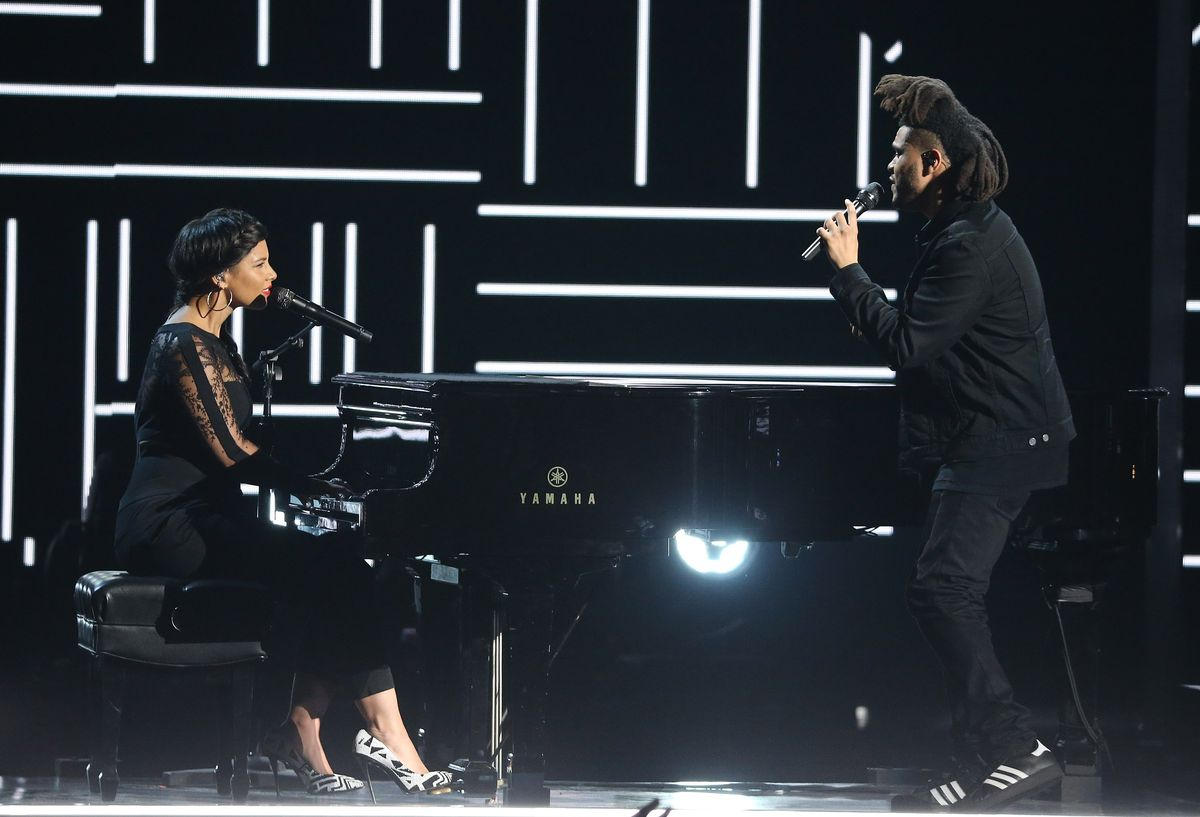 The Weeknd and Alicia Keys