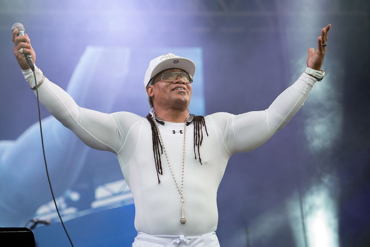RIVERHEAD, NY - AUGUST 05: Rapper Melle Mel performs during day two of the 2015 FOLD Festival at Martha Clara Vineyards on August 5, 2015 in Riverhead, New York. (Photo by Mike Pont/Getty Images)