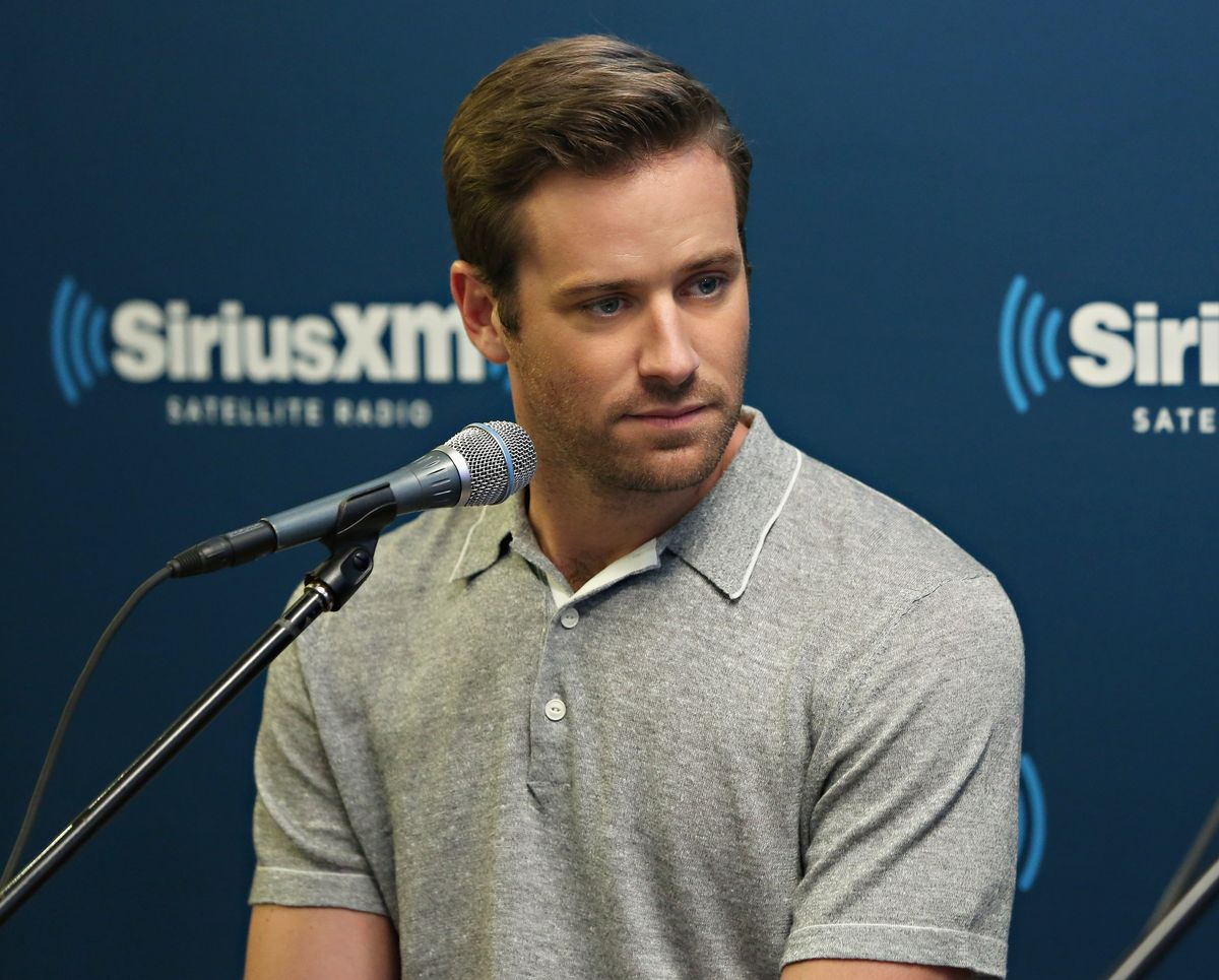 NEW YORK, NY - AUGUST 12: Actor Armie Hammer takes part in SiriusXM's Entertainment Weekly Radio 'The Man from U.N.C.L.E.' Town Hall with Guy Ritchie, Henry Cavill and Armie Hammer on August 12, 2015 in New York City. (Photo by Cindy Ord/Getty Images for SiriusXM)