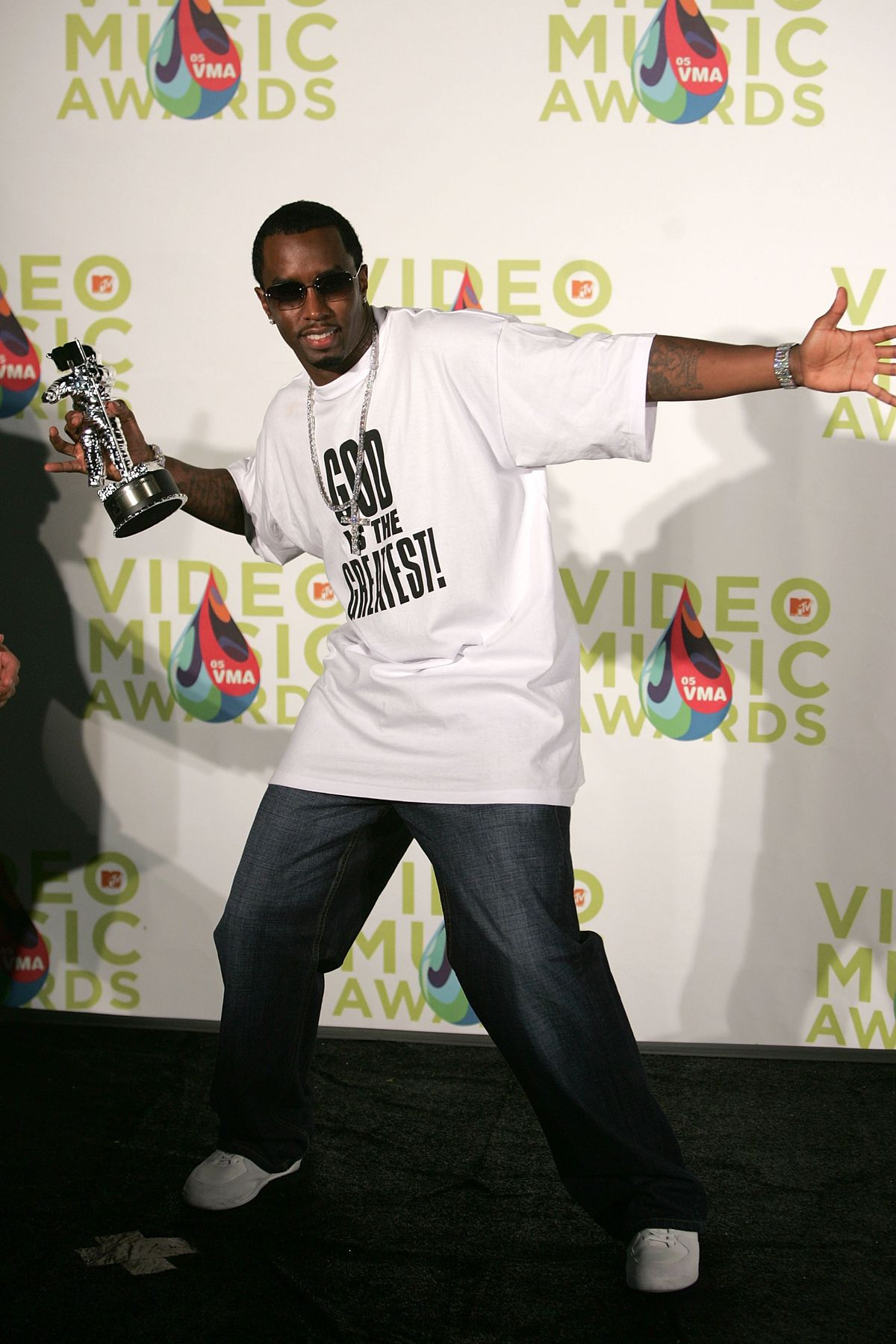 MIAMI - AUGUST 28: Rapper Diddy poses in the press room during the 2005 MTV Video Music Awards at the American Airlines Arena on August 28, 2005 in Miami, Florida. (Photo by Alexander Tamargo/Getty Images)