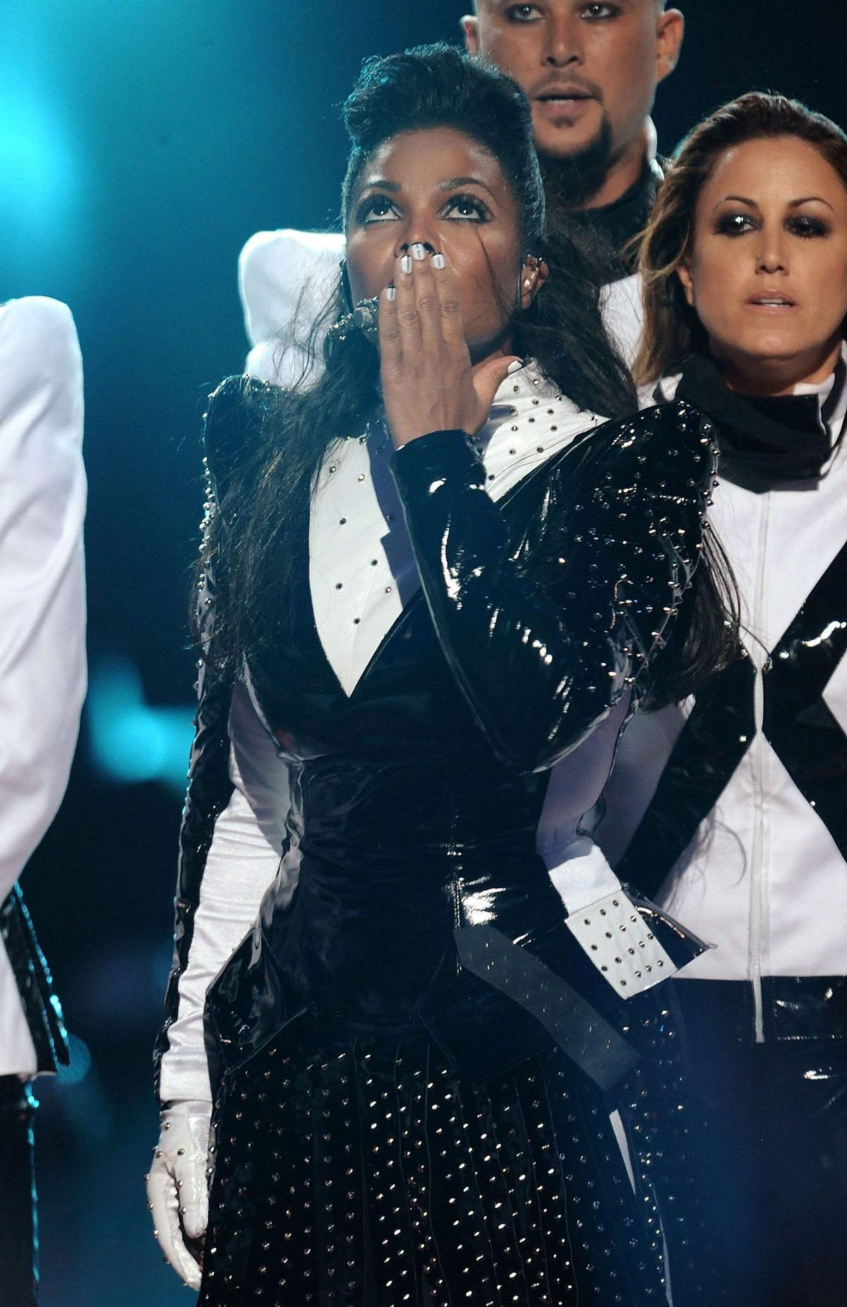 NEW YORK - SEPTEMBER 13: Janet Jackson performs onstage during the 2009 MTV Video Music Awards at Radio City Music Hall on September 13, 2009 in New York City. (Photo by Kevin Mazur/WireImage)