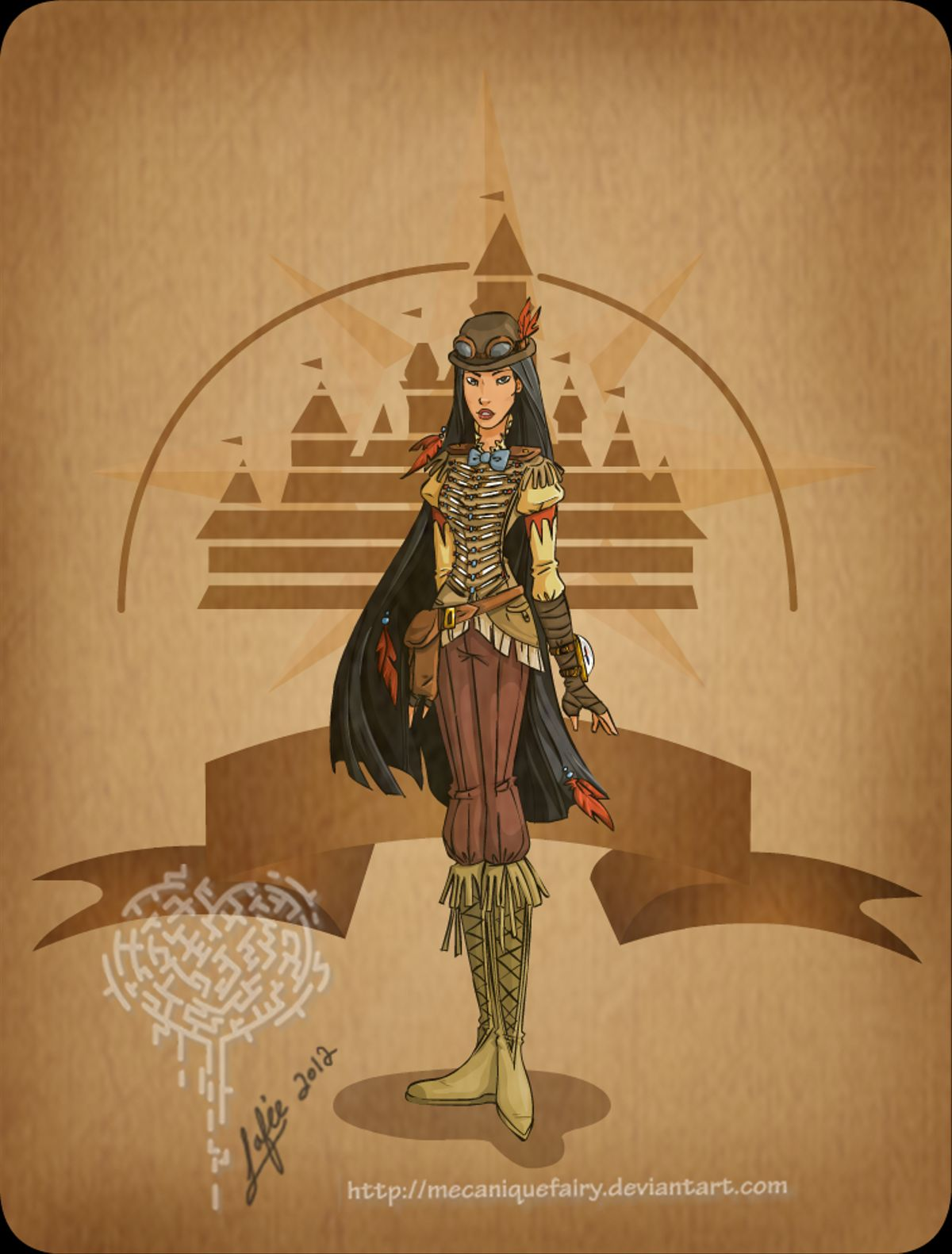 disney_steampunk__pocahontas_by_mecaniquefairy-d4np4l5