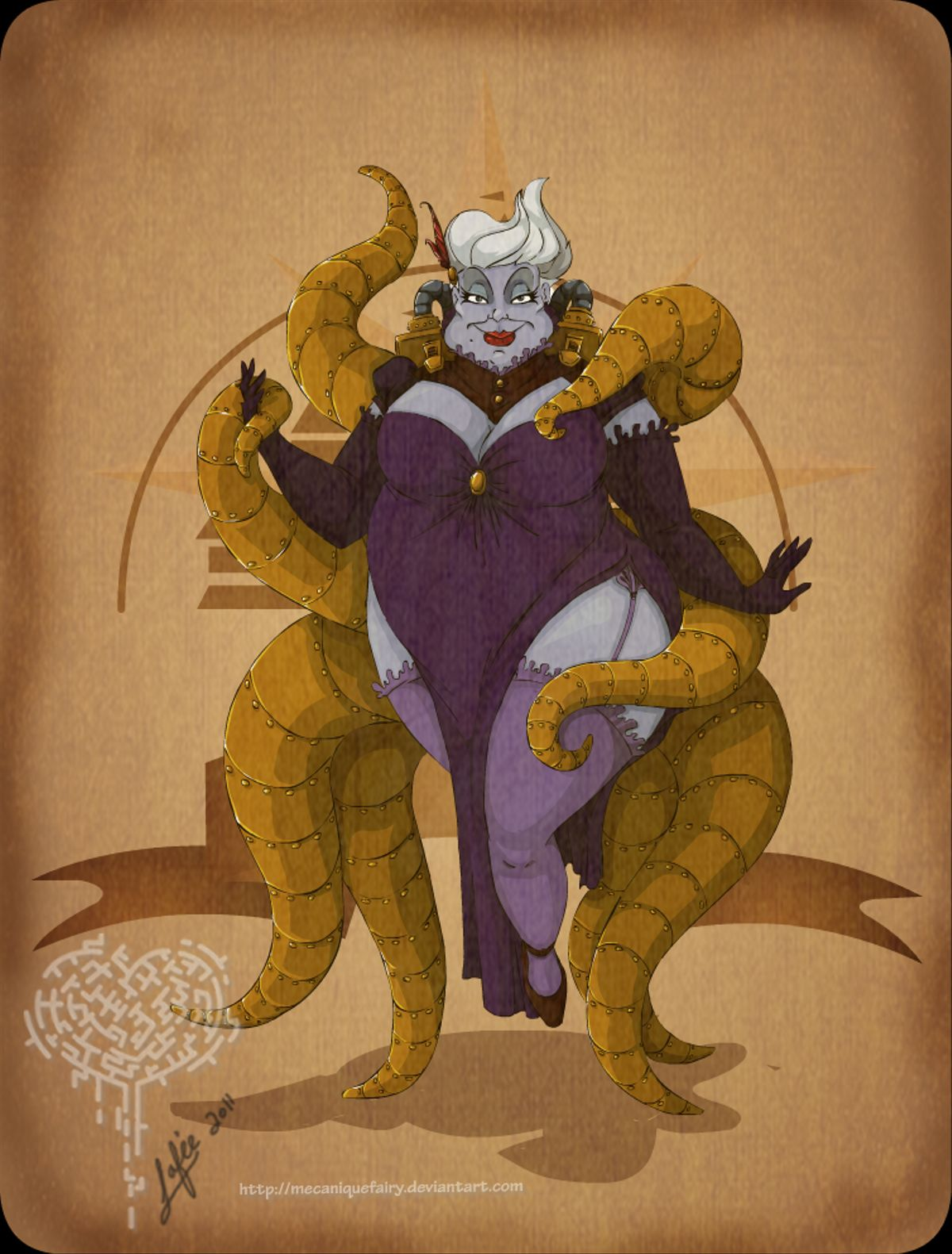disney_steampunk__ursula_by_mecaniquefairy-d45lfut
