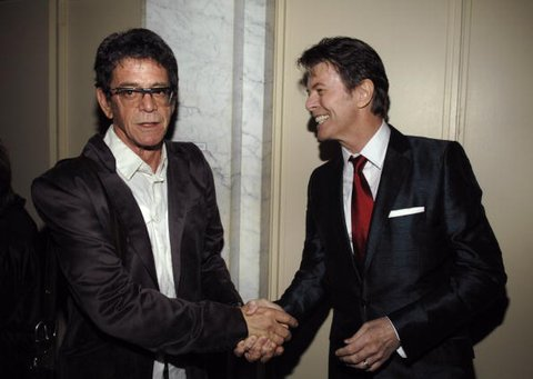 Lou Reed and David Bowie (Photo by Larry Busacca/WireImage)