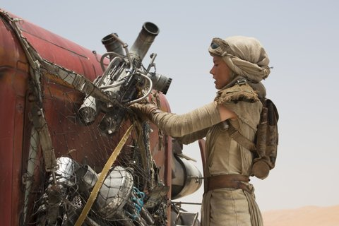 Star Wars: The Force Awakens..Rey (Daisy Ridley) ..Ph: David James..? 2015 Lucasfilm Ltd. & TM. All Right Reserved.