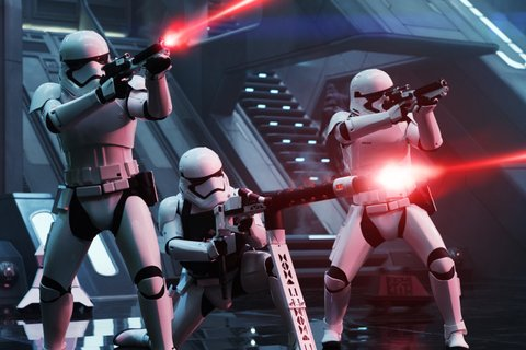 Star Wars: The Force Awakens..First Order Troopers..Ph: David James..? 2015 Lucasfilm Ltd. & TM. All Right Reserved.