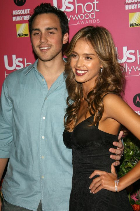 Jessica Alba (right) and brother Joshua Alba during Us Weekly Hot Hollywood Awards at Republic Restaurant and Lounge in West Hollywood, CA, United States. (Photo by Mirek Towski/FilmMagic)