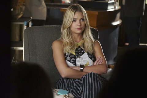 """PRETTY LITTLE LIARS - """"Did You Miss Me?"""" - Infuriated by the continual harassment, the Liars build a plan of attack in """"Did You Miss Me?,"""" an all-new episode of the hit original series """"Pretty Little Liars,"""" airing TUESDAY, MARCH 8 (8:00–9:00 p.m. EST) on Freeform, the new name for ABC Family. (Freeform/Eric McCandless) ASHLEY BENSON"""