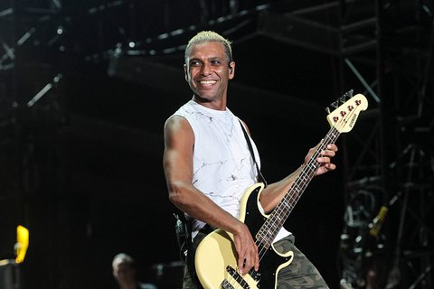 DEL MAR, CA - SEPTEMBER 18: Tony Kanal of No Doubt performs during the 2015 KAABOO Del Mar at the Del Mar Fairgrounds on September 18, 2015 in Del Mar, California. (Photo by Christopher Victorio/WireImage for KAABOO Del Mar via imageSPACE)