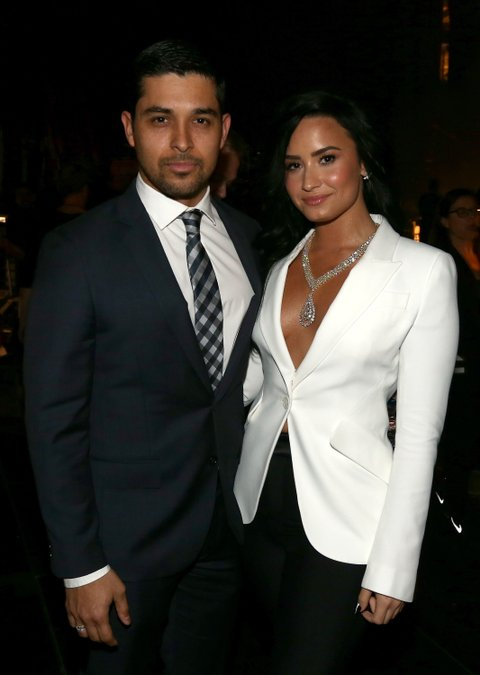 LOS ANGELES, CA - FEBRUARY 15: Actor Wilmer Valderrama (L) and singer Demi Lovato attend The 58th GRAMMY Awards at Staples Center on February 15, 2016 in Los Angeles, California. (Photo by Christopher Polk/Getty Images for NARAS)