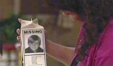 Seven on a milk carton in Married with Children