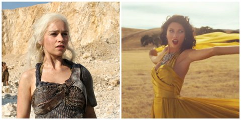 Taylor Swift Wildest Dreams video and Khaleesi in Season 2 of Game of Thrones