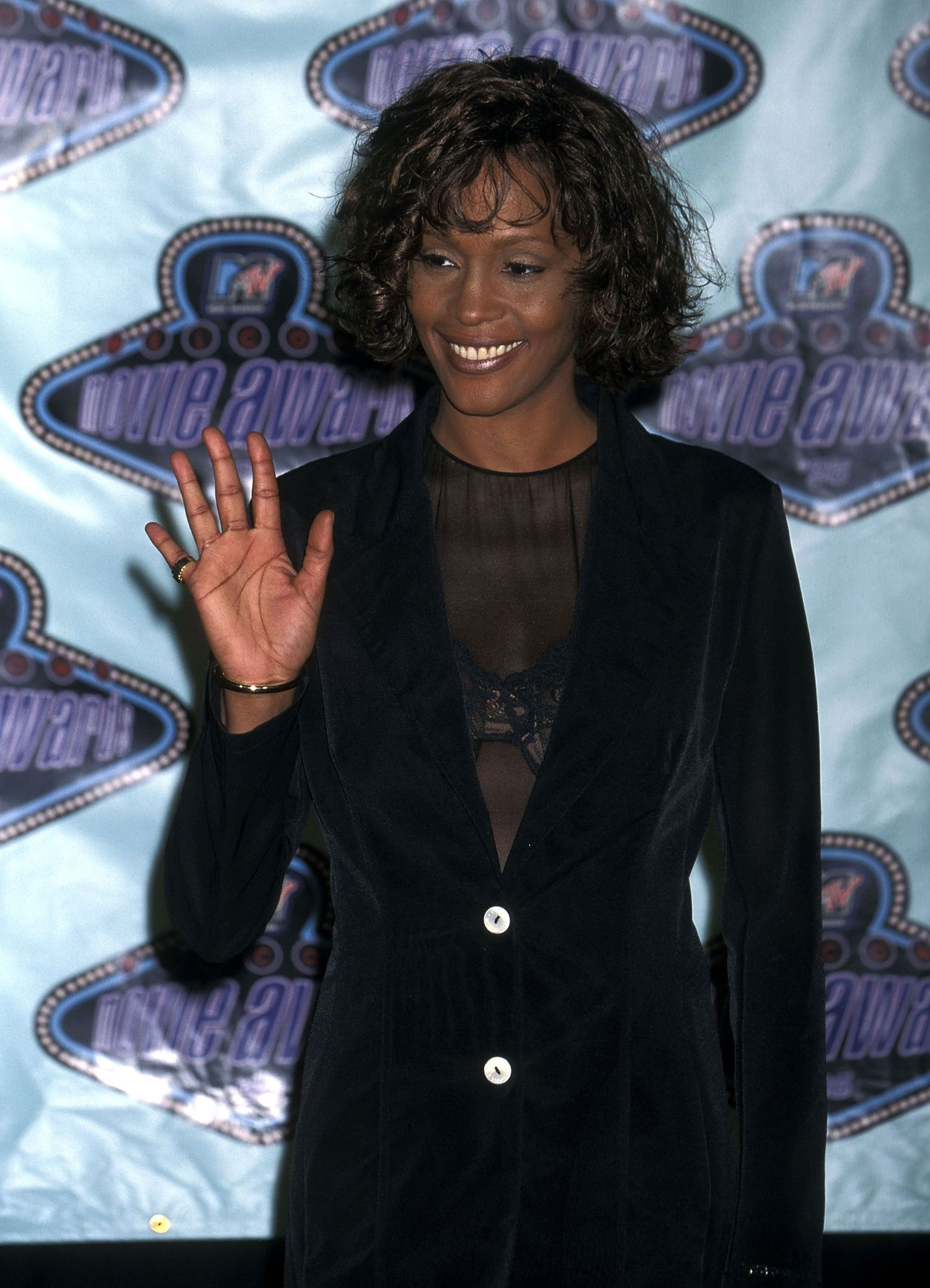 Singer Whitney Houston attends the Fifth Annual MTV Movie Awards on June 8, 1996 at Walt Disney Studios in Burbank, California. (Photo by Ron Galella, Ltd./WireImage)