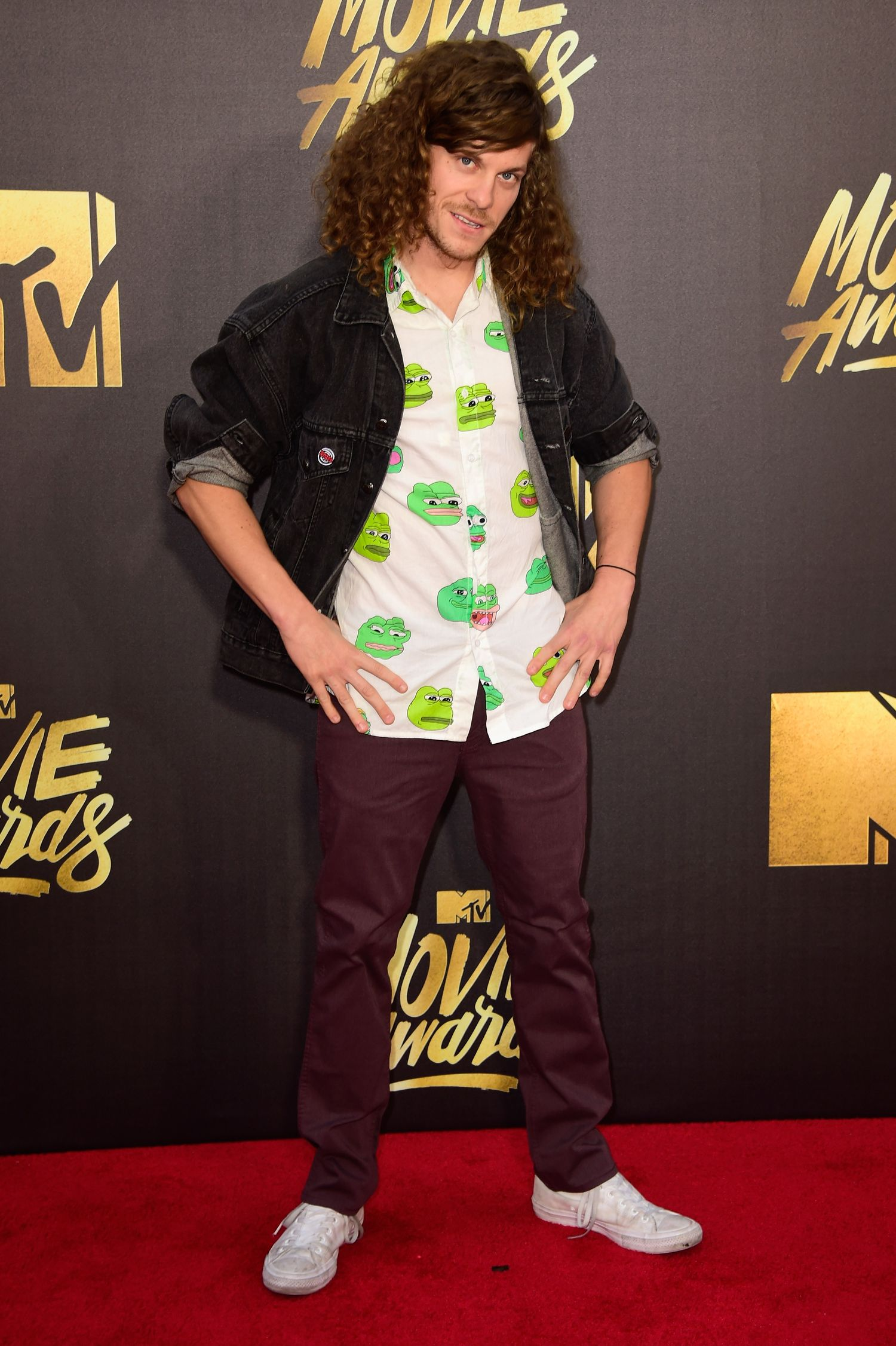 BURBANK, CALIFORNIA - APRIL 09: Actor Blake Anderson attends the 2016 MTV Movie Awards at Warner Bros. Studios on April 9, 2016 in Burbank, California. MTV Movie Awards airs April 10, 2016 at 8pm ET/PT. (Photo by Frazer Harrison/Getty Images)