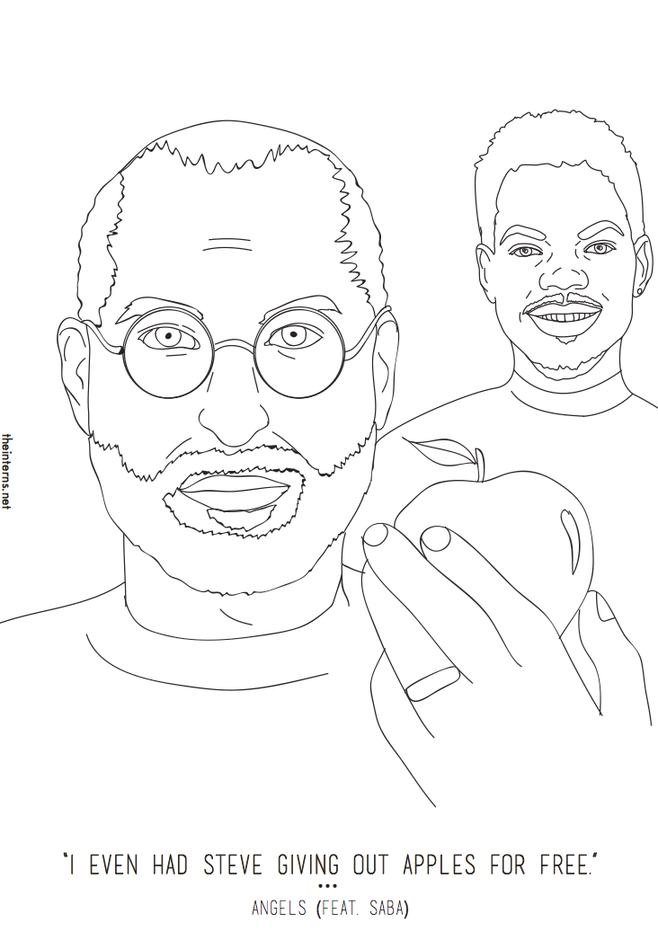 Book Chance The Rapper Hd Coloring Pages