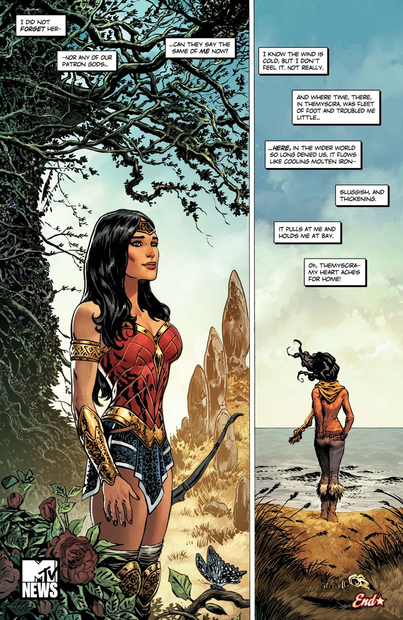 wonder w aches for home in this exclusive th anniversary here s a look at a brand new illustration from artists phil jimenez and fajardo jr the art is a beautiful tribute to wonder w s evolution through the
