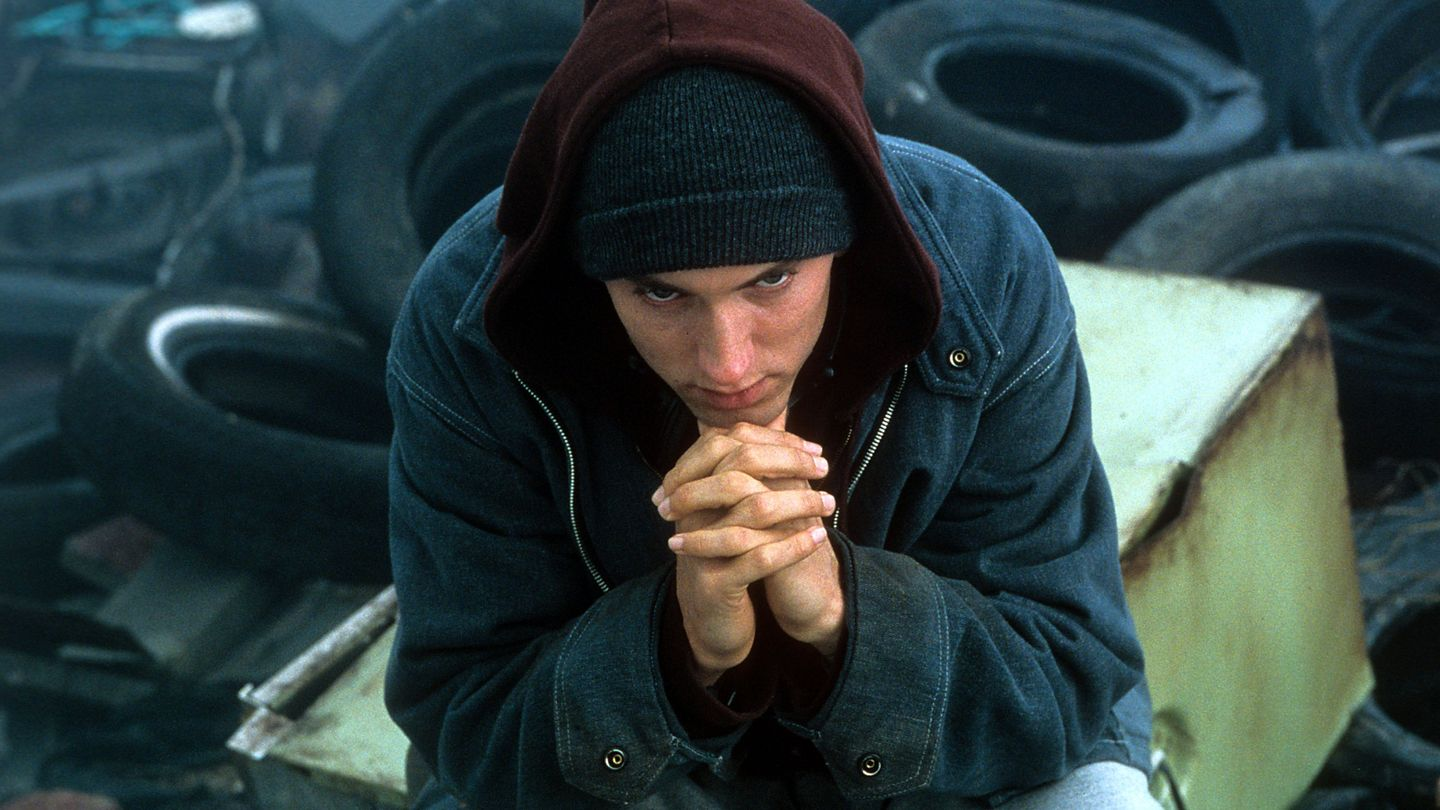 TIL during the rap battle montages in 8 Mile, Eminem would mime to save his voice. However after one rapper got a particularly good audience reaction, he turned his mic on and improvised a verse in response rather than let himself be beaten.