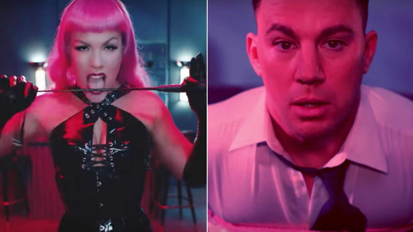 P!nk Goes All Fifty Shades Of Grey On Channing Tatum In New Video