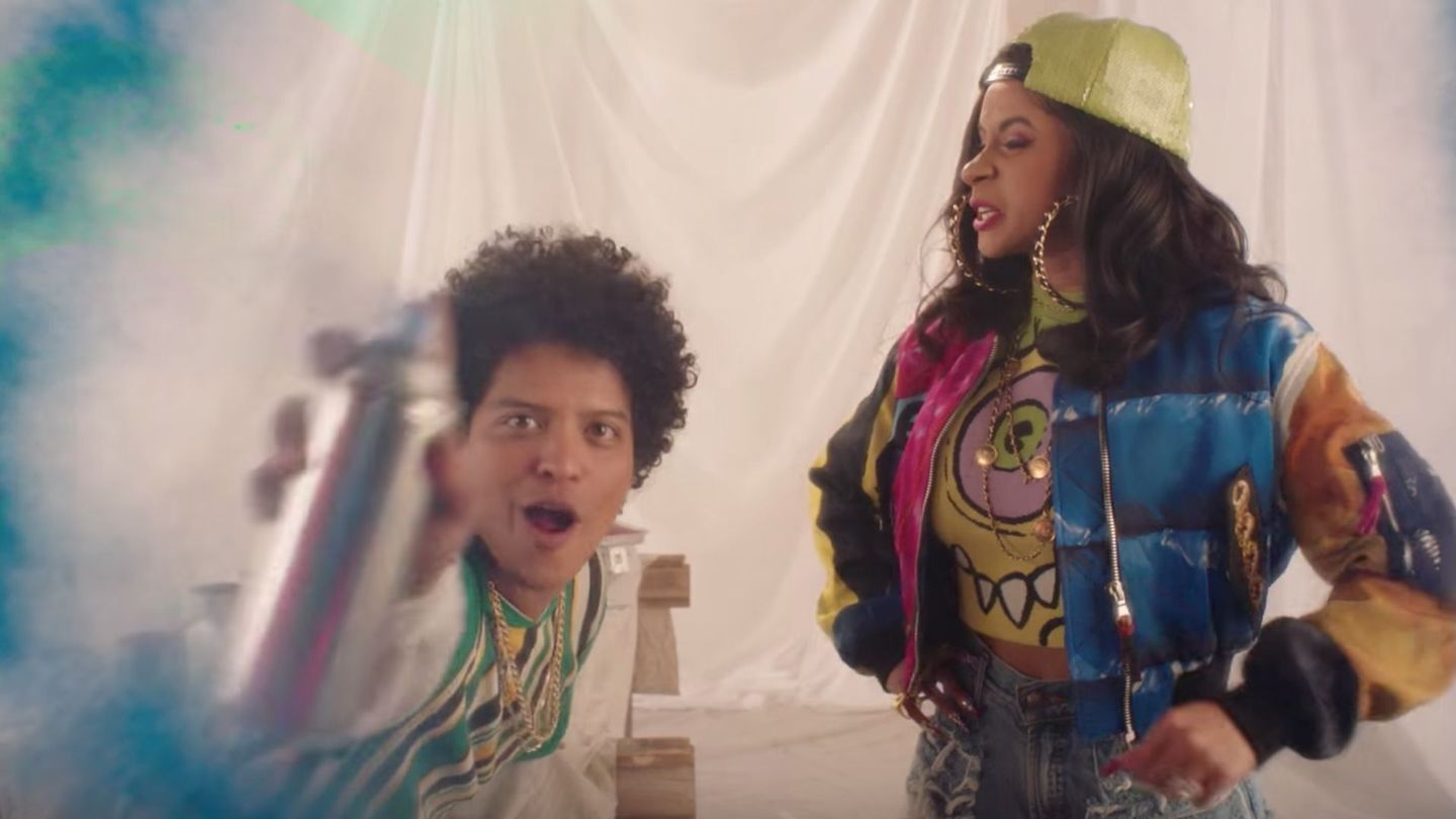 Cardi B And Bruno Mars Officially Revive The '90s For The 'Finesse' Video